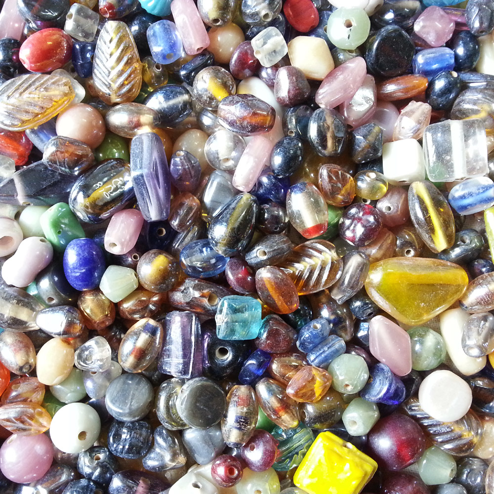 glass beads - rainbow lustre mix -16004 x 1KG