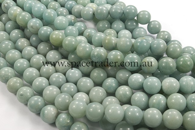 04mm Plain Round Amazonite Bead - 40cm strands