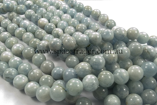 04mm Plain Round Aquamarine (A Grade) Bead - 40cm strands