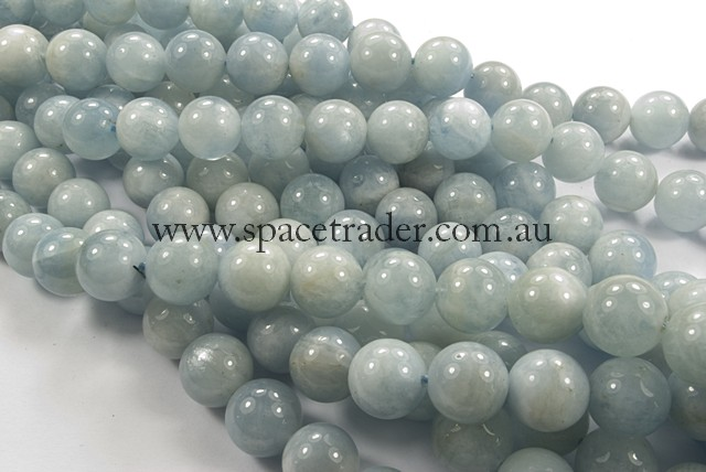 04mm Plain Round Aquamarine (AA Grade) Bead - 40cm strands
