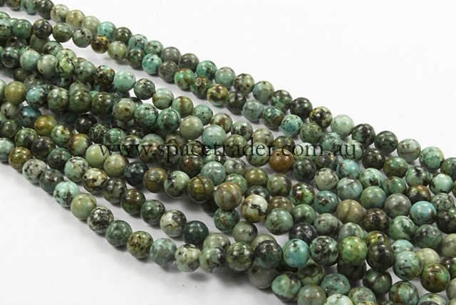 04mm Plain Round Africa Turquoise Bead - 40cm strands
