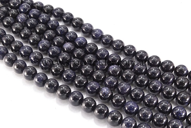 04mm Plain Round Blue Gold Sand Bead - 40cm strands