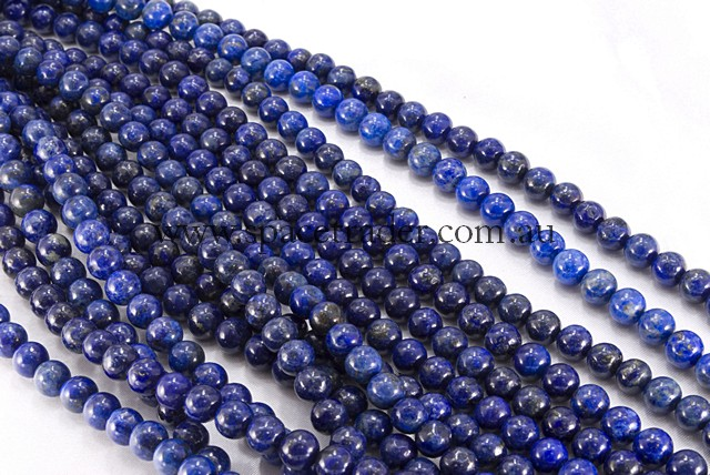 04mm Plain Round Dye Colour Lapis (AB grade) Bead - 40cm strands