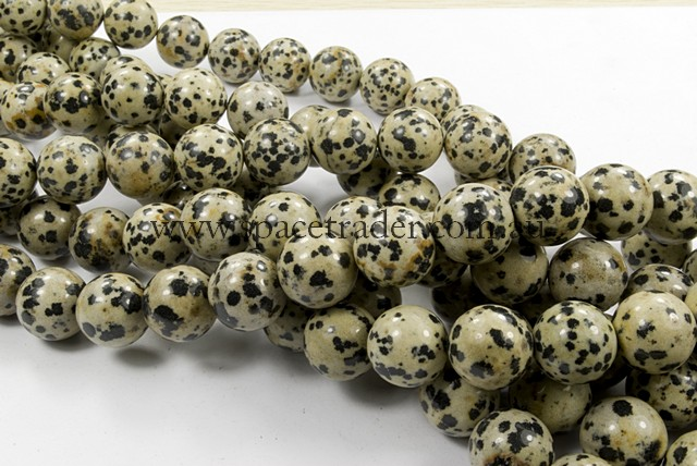 04mm Plain Round Dalmation Jasper Bead - 40cm strands