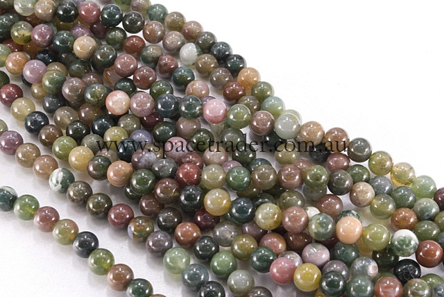 04mm Plain Round Fancy Jasper Bead - 40cm strands