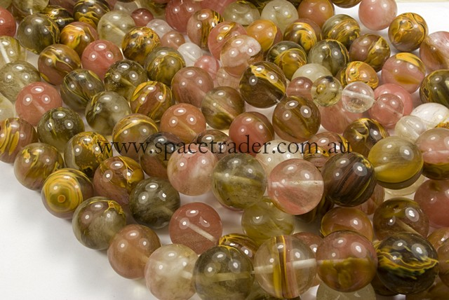 04mm Plain Round Fire Cherry Quartz Bead - 40cm strands