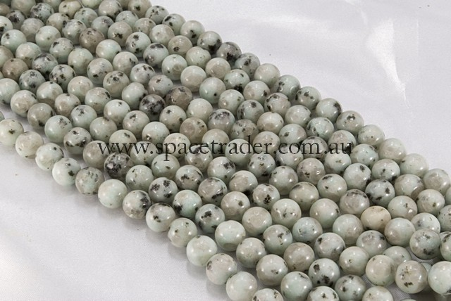 04mm Plain Round Kiwi Jasper Bead - 40cm strands