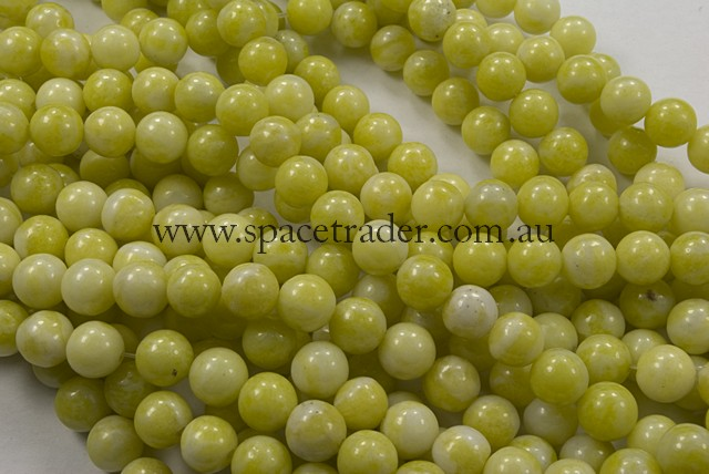 04mm Plain Round Lemon Jade Bead - 40cm strands