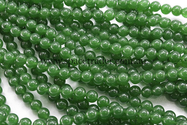 04mm Plain Round Malaysia Green Jade ( Dyed ) Bead - 40cm strands