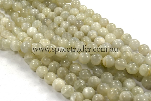 08mm Plain Round Moonstone Bead - 40cm strands