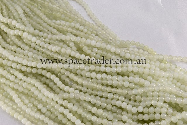 04mm Plain Round New Jade (Sepentine) Bead - 40cm strands