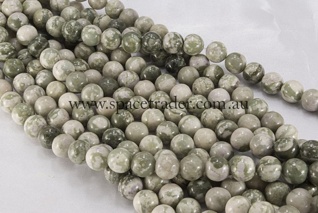04mm Plain Round Peace Jasper Bead - 40cm strands