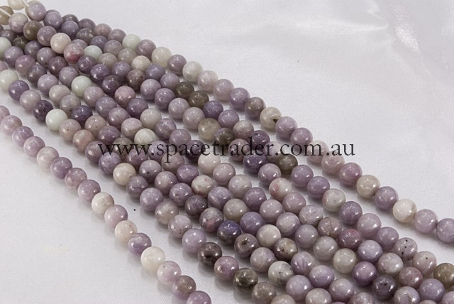18mm Plain Round Purple Stone Bead - 40cm strands