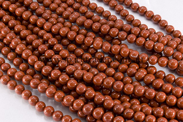 04mm Plain Round Red Jasper Bead - 40cm strands