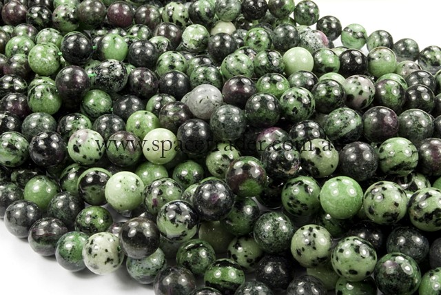 06mm Plain Round Ruby Zoisite Bead - 40cm strands