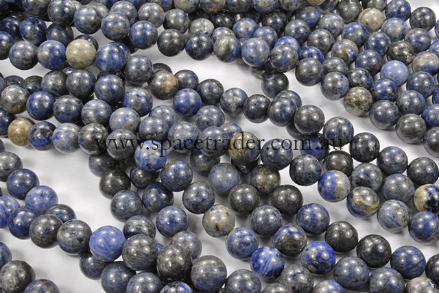 04mm Plain Round Sodalite Bead - 40cm strands