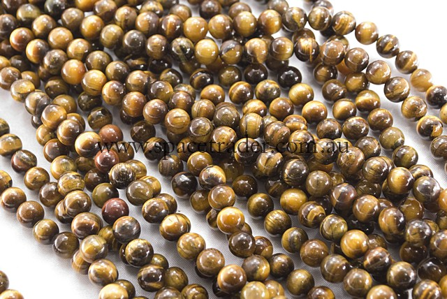 04mm Plain Round Tiger Eye (A grade) Bead - 40cm strands