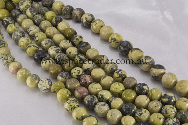 08mm Plain Round Yellow Turquoise Bead - 40cm strands