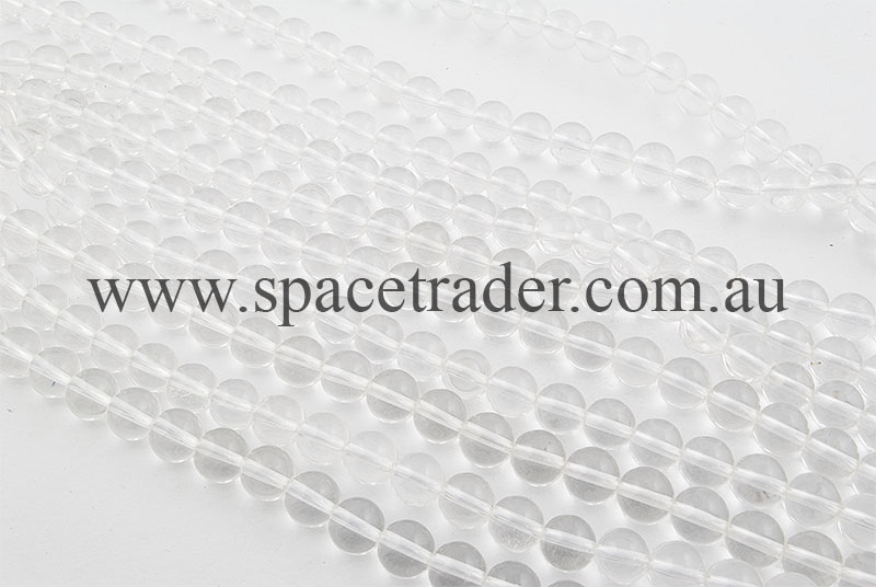 12mm Plain Round Rock Crystal (B grade) Bead - 40cm strands
