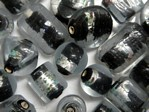 glass - foil - 4853-039 - clear/foil - black mix x 1kg