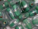 glass - foil - 4853-290 - clear/foil - dark green mix x 1kg