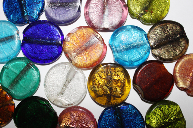 glass - *foil - 35mm coin mix x 1 KG