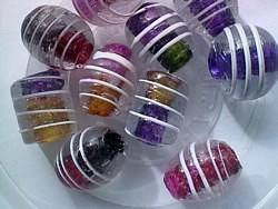 glass - mix - 2748KG - KG large spiral beads mix x 1KG