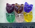glass - mix - 1794 - cat face beads mix x 1 KG
