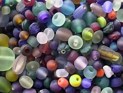 glass beads - frosted beach mix - 16002 x 1KG