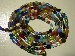 glass - door beads - 2 metre strand - mixed glass x 10 strands