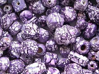 glass - mix - 2707KG  KG Marbled mix x 1 KG purple