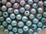 glass - 1676-296 - 5mm round - turquoise x 1 KG
