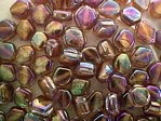 glass - 1699-019 - 6 x 4mm flat diamond - brown x 1 KG