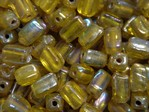 glass - 1697-012 - 6 x 4mm rectangle - yellow x 1 KG