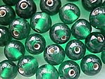 glass - round - 08mm - 1607-004 transparent dark green x 1 KG