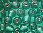 glass - round - 10mm - 1730-003 transparent mid green x 1 KG