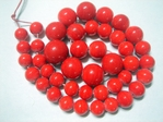 glass - graduated round - 031 bright red x 60cm strand