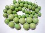 glass - graduated round - 037 lime x 60cm strand