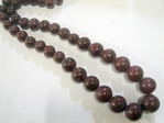 glass - graduated round - 282 chocolate brown x 60cm strand