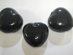 glass - 1828-039 - 18mm heart - black x 1 KG