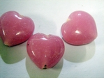 glass - 1828-308 - 18mm heart - opaque pink x 1 KG