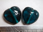 glass - 1828-016 - 18mm heart - trans aqua x 1 KG