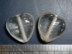 glass - 1828-023 - 18mm heart - trans clear x 1 KG