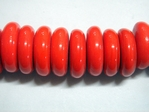 glass - tribal disc - 20mm - 031 bright red x 250 beads