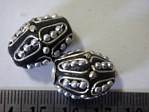 kashmiri beads - 15017 - silver cones x 200 beads