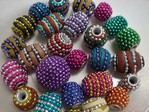 kashmiri beads - 04830 - bubbly mix x 1kg