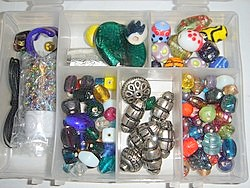 bead kits - 4602 - mixed glass bead kit x 10 sets