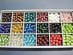 bead kits - 4606 - 6mm round glass bead kit x 12 sets