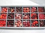 bead kits - 4605 - mix glass bead kit - red x 12 sets