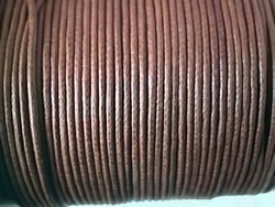 stringing - waxed cotton - 2.0mm x 100m - brown x 5 spools
